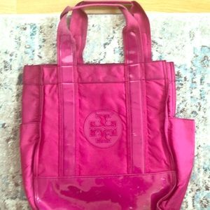Large Pink Tory Burch Nylon Tote